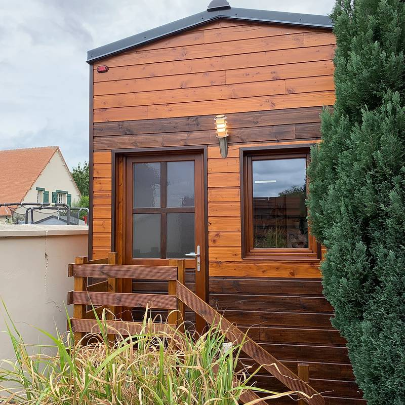 photo tiny house Tiny M'House Une isolation et des matériaux de qualité