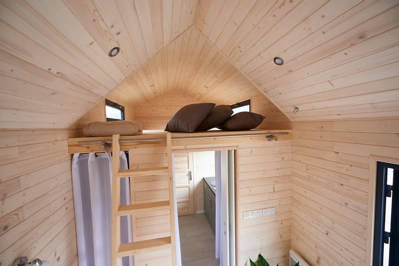 photo tiny house Origin Intérieur bois