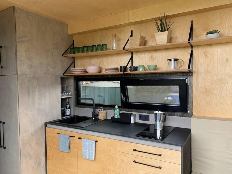 photo tiny house Joy Coin cuisine équipée