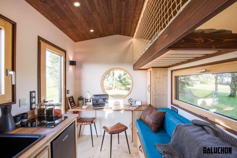photo tiny house Nano Un espace à vivre très lumineux