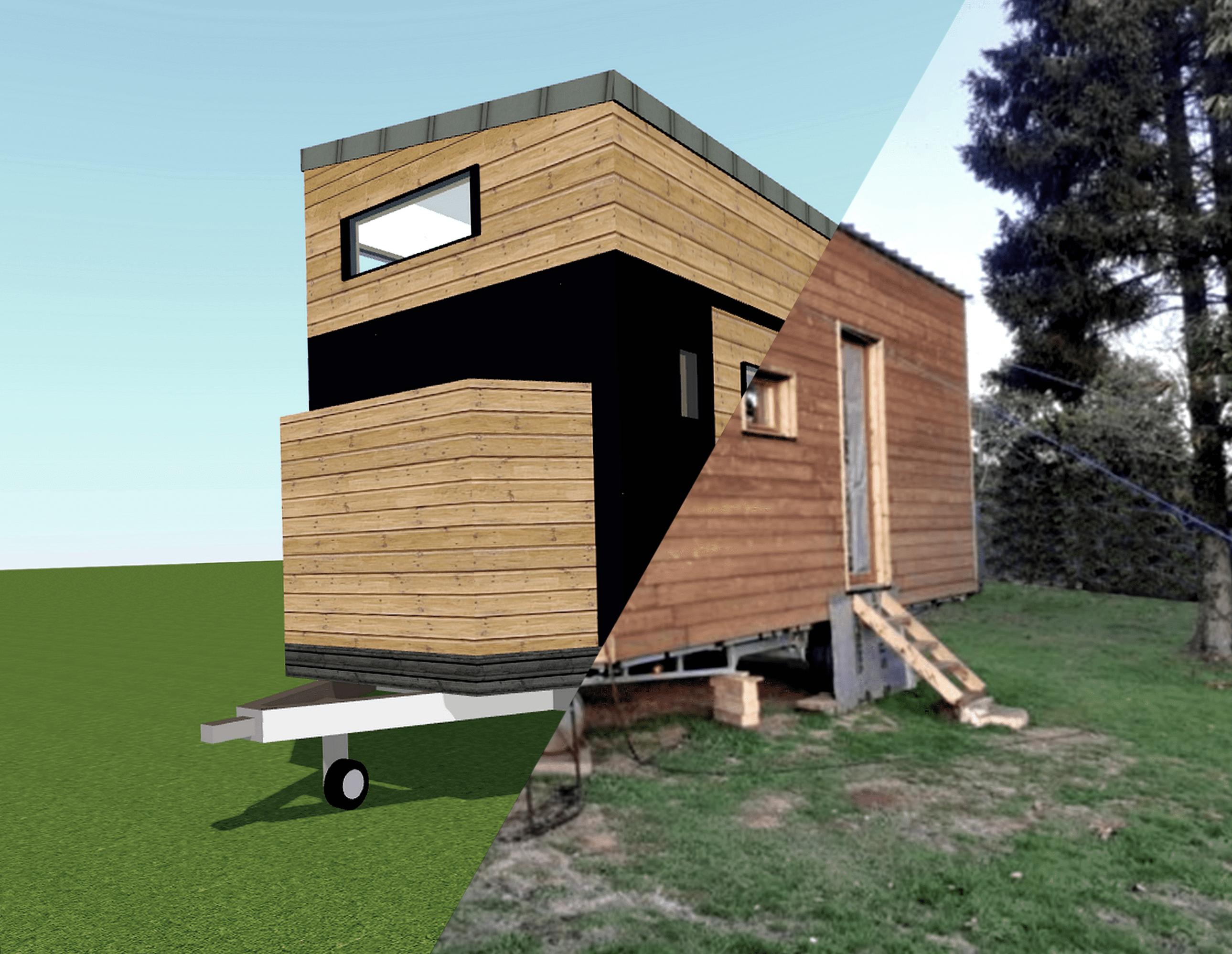 rendu 3d sur photo tiny house
