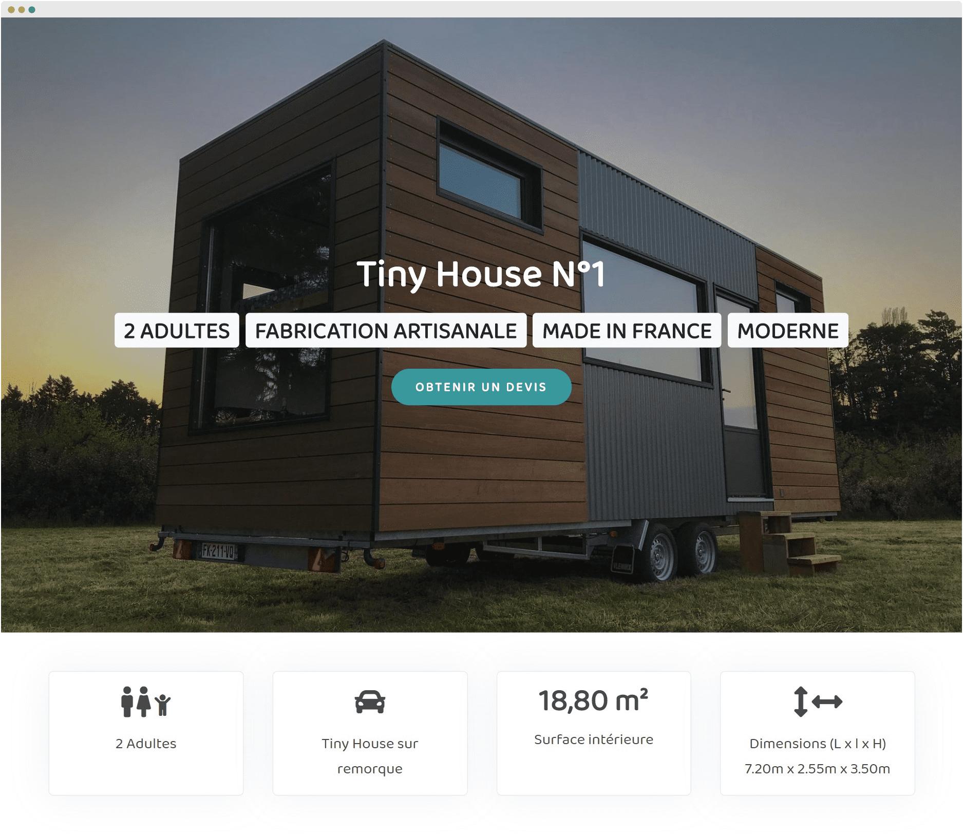 Tiny House Rêve fait maison